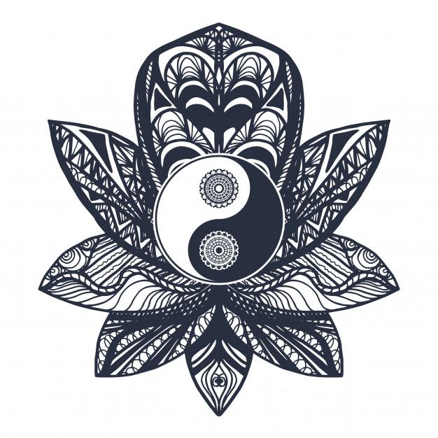 vintage-yin-yang-lotus_71609-1171